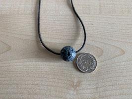 Schneeflocken-Obsidian-Kugel 1,6 cm, gebohrt