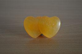 Orangencalcit-Doppelherz