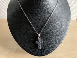 Paua-Muschel-Kette Kreuz