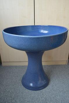 Zimmerbrunnen-Schale 60 cm mit Sockel, blau