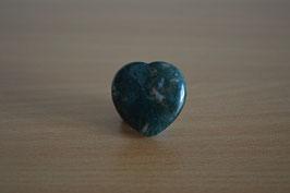 Moosachat-Herz - 2,5 cm