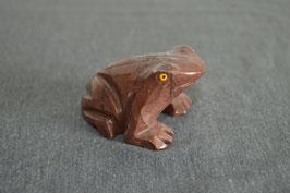 Speckstein-Frosch, rot/braun, gross - 4