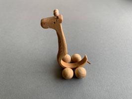Holz-Rolltier Giraffe mittel
