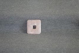 Rosenquarz-Quadrat-Donut 3 x 3  cm