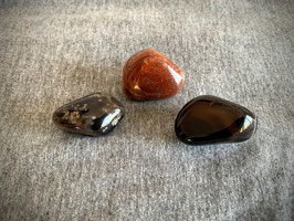 Achat-Trommelstein, braun/grau/dunkel