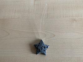 Schneeflocken-Obsidian-Stern-Anhänger