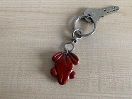 Jaspis rot-Frosch-Schlüsselanhänger