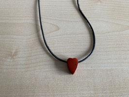 Jaspis rot-Herz-Anhänger 1,7 x 1,2 x 0,8 cm, gebohrt