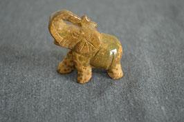 Leopardenfell-Jaspis-Elefant
