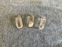 Bergkristall-Trommelstein - rohrförmig