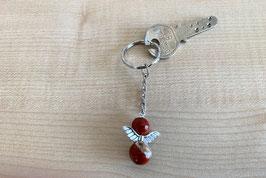 Jaspis rot-Engel-Schlüsselanhänger, Flügeltyp 3