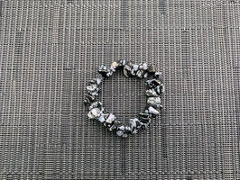 Schneeflocken-Obsidian-Splitterarmband