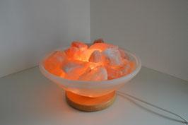 Salzkristall-Lampe Glasschale, gross