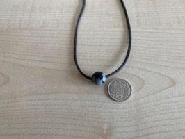 Schneeflocken-Obsidian-Kugel 1 cm, gebohrt
