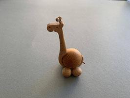Holz-Rolltier Giraffe mittel mit Holz-Kugel 3 cm