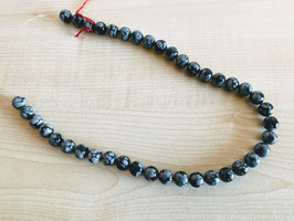 Schneeflocken-Obsidian-Kettenstrang (122)