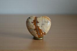 Landschafts-Jaspis-Herz - 4 cm