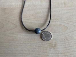 Schneeflocken-Obsidian-Kugel 1,2 cm, gebohrt