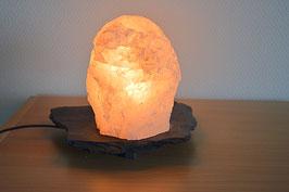 Rosenquarz-Lampe
