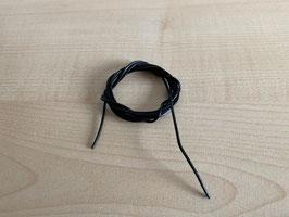 Lederband Standart, schwarz - 1 mm