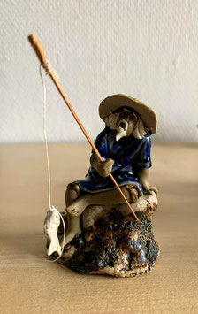 Bonsai-Figur 'Fischer' aus Keramik - 3