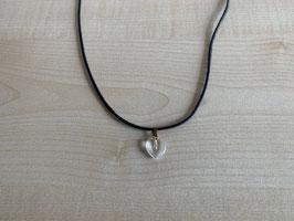 Bergkristall-Herz-Anhänger 1 x 1 x 0,4 cm, mit Öse