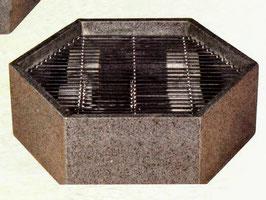 Brunnenschale Granit 6-Eck