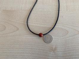 Jaspis rot-Kugel 0,8 cm, gebohrt