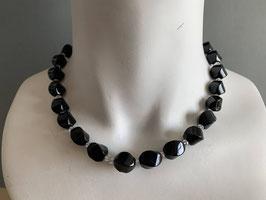 Onyx/Bergkristall-Kette (142)