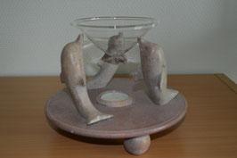 Speckstein-Duftwindlicht, rosa, Delfin - 1