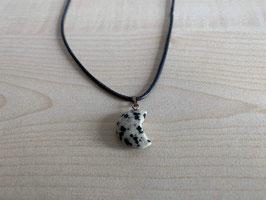 Dalmatiner-Jaspis-Mond-Anhänger 1,8 x 1,3 x 0,5 cm, mit Öse