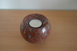 Granit-Kugel mit Teelicht - 1