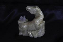 Zimmerbrunnen-Objekt chinesisches Pferd mit Bergkristall-Kugel