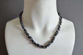 Schneeflocken-Obsidian-Edelstein-Kette (Splitter), kurz