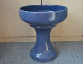 Zimmerbrunnen-Schale 40 cm mit Sockel, blau