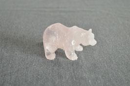 Rosenquarz-Bär
