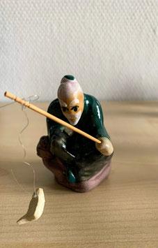 Bonsai-Figur 'Fischer' aus Keramik - 2