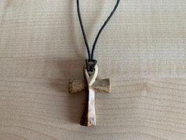 Landschafts-Jaspis-Kreuz-Anhänger
