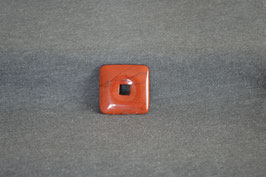 Jaspis-Quadrat-Donut rot 3 x 3  cm