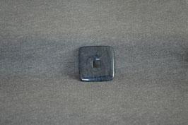 Dumortierit-Quadrat-Donut 3 x 3  cm