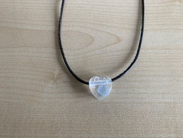 Bergkristall-Herz-Anhänger 1,7 x 1,7 x 0,9 cm, gebohrt