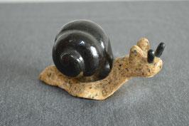 Granit-Schnecken, beige/schwarz