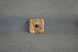 Landschafts-Jaspis-Quadrat-Donuts 3 x 3  cm