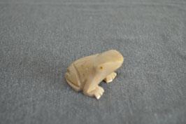 Speckstein-Frosch, beige, klein - 1
