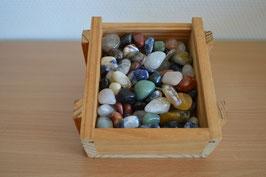 Trommelstein-Holz-Geschenkbox, klein