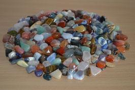 1 kg Trommelsteine, gemischt, 0,5 bis 2 cm