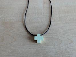 Zitronenchrysopras-Kreuz-Anhänger, Quadrat