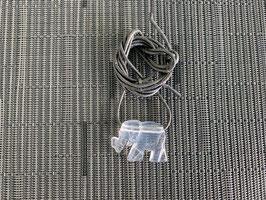 Bergkristall-Elefant-Anhänger, gebohrt, mit Lederband