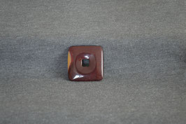 Mookait-Quadrat-Donut rot-braun 3 x 3  cm