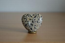 Dalmatiner-Jaspis-Herz - 4 cm